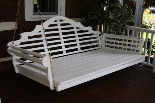 4' Marlboro Yellow Pine Porch Swingbed - White