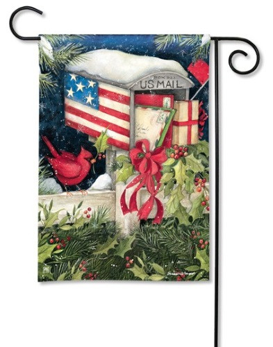 Christmas Cards Garden Flag