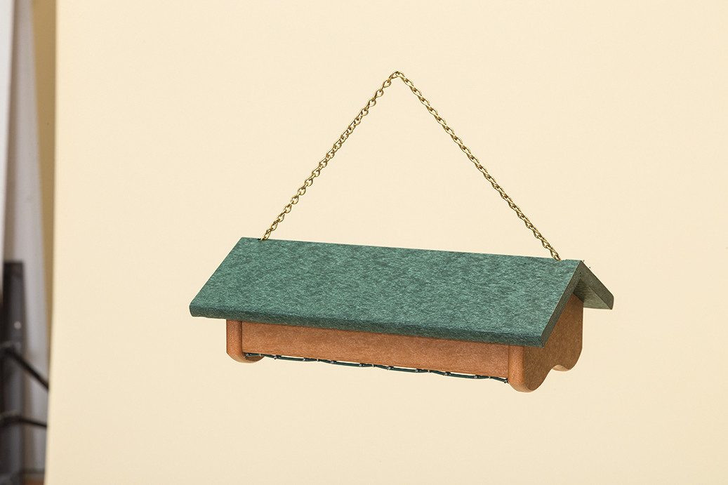 Suet Feeder - Poly -Shown with Cedar base and Turf Green Roof