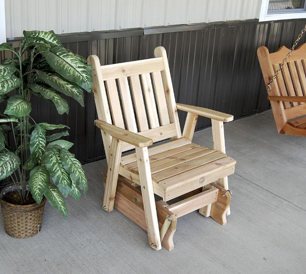 Cedar Traditional English Glider Chair