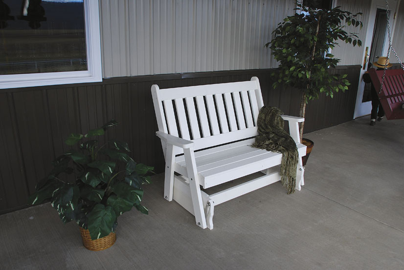 4' Traditional Poly English Gliding Bench