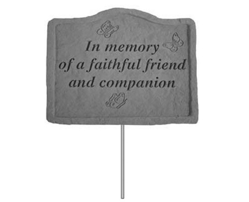In memory of a faithful friend...Pet Memorial Garden Stake
