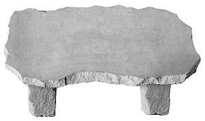 Cast Stone - Large Bench