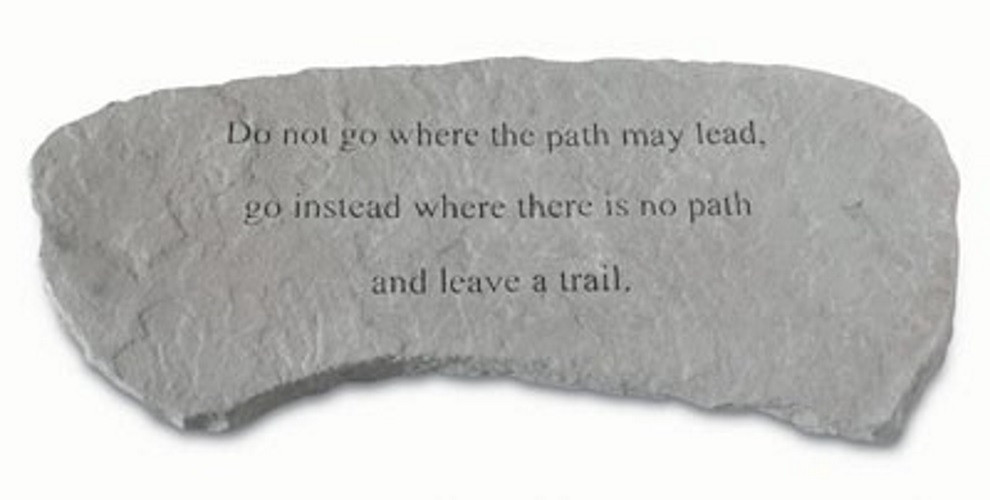Do not go where the path may lead...Decorative Garden Bench