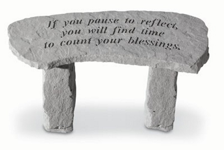 If you pause to reflect...Decorative Garden Bench