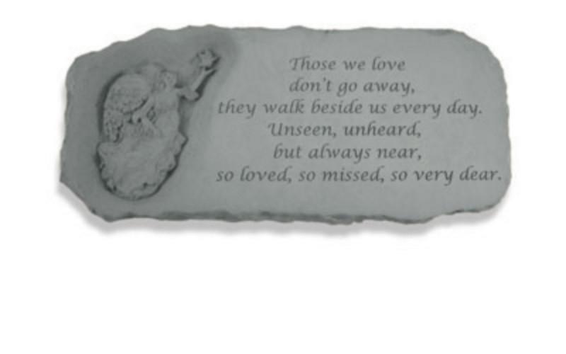 Those we love don't go away...Memorial Garden Bench w/ Angel