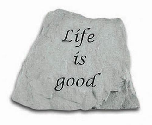 Life is Good Decorative Garden Stone