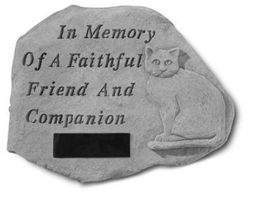 In Memory of a Faithful...Pet Memorial Garden Stone