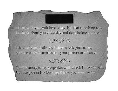 I thought of You. with Love Today...Memorial Garden Stone