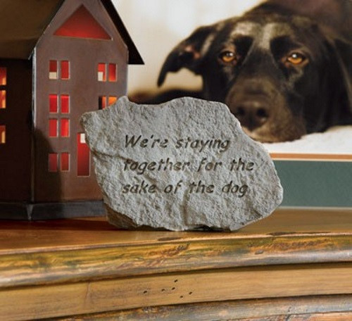 We're staying together...Decorative Garden Stone