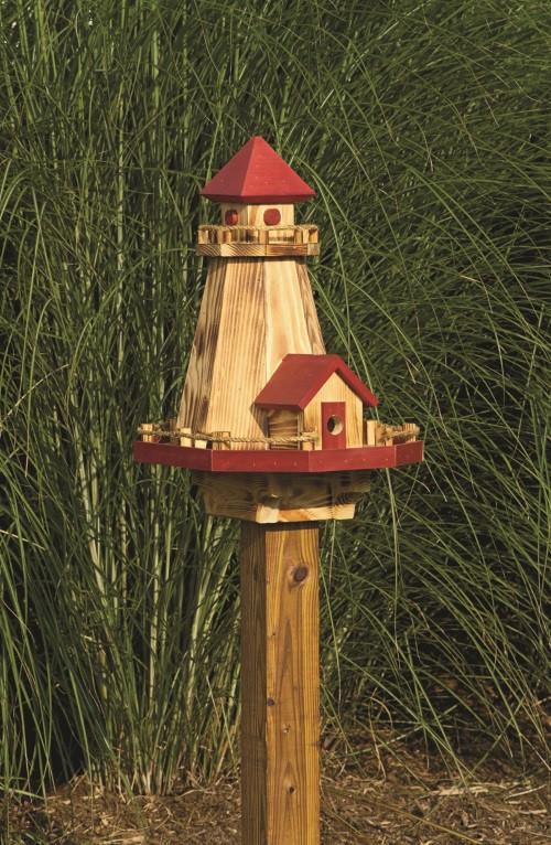 Lighthouse Bird Feeder & Bird House Combo