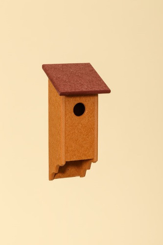 Poly Wood Bluebird House - Cedar Base/Cherry Roof