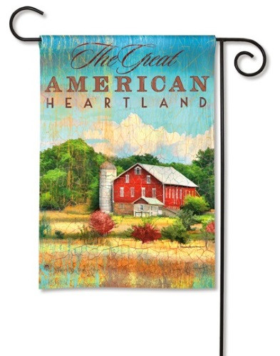 Red Barn Garden Flag