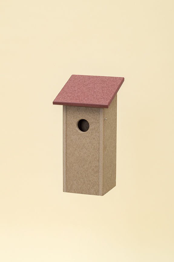 Polywood Classic Bluebird House - Cherry/Weatherwood