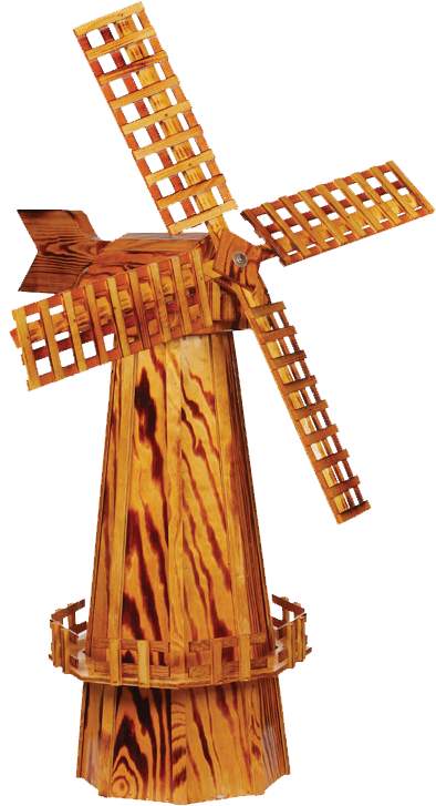 Large Wooden Garden Windmill