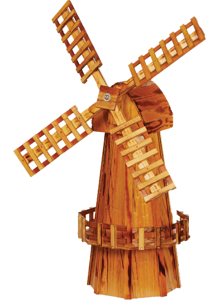 Medium Wooden Garden Windmill
