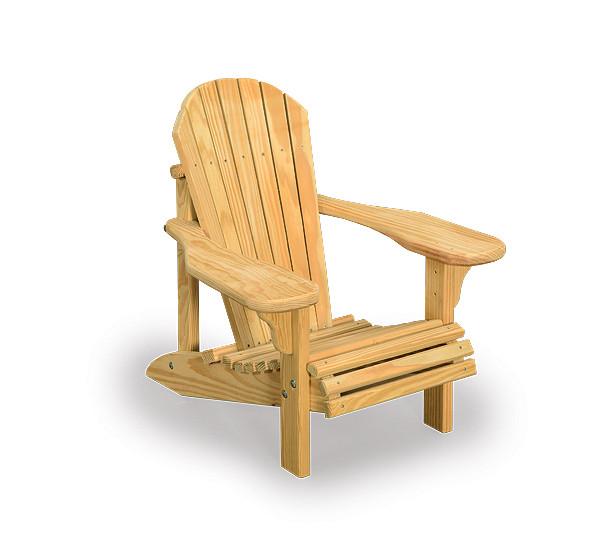 Kids Pressure Treated Pine Adirondack Chair