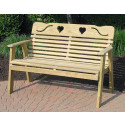 Cutout Heart Bench