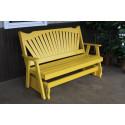 4' Fanback Yellow Pine Glider