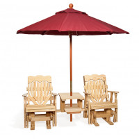 High Back Heart Double Glider with Table