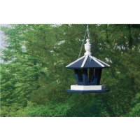 Hanging Gazebo Bird Feeder - Navy & White