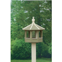 Gazebo Bird Feeder - Wildgrasses & Off White