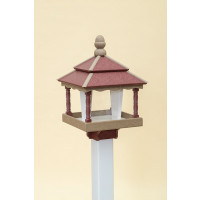 Square Polywood Bird Feeder - Cherry/WR