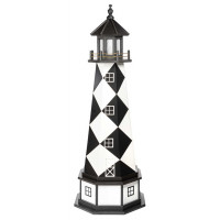 5' Amish Crafted Hybrid Garden Lighthouse - Cape Lookout - Black & White