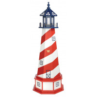 5' Amish Crafted Hybrid Garden Lighthouse - Patriotic Cape Hatteras