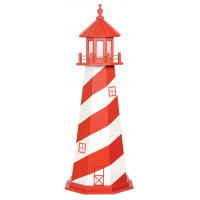 5' White Shoal Wooden Lighthouse