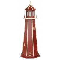 6' Standard Polywood Lighthouse - Cherrywood  & White