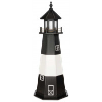 6' Tybee Island Wooden Lighthouse