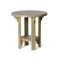 Poly Bistro Table - Weatherwood