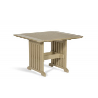 """Poly 43"""" x 43"""" Dining Table - Weatherwood"""