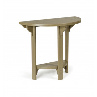 Poly Half Round Table - Weatherwood (Bar Stools sold separately)