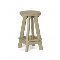 Poly Barstool - Weatherwood