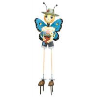 Butterfly Man Kinetic 3-D Garden Stake