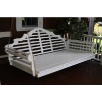 4' Marlboro Yellow Pine Porch Swingbed - White