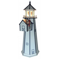 6' Polywood Standard Lighthouse with Polywood Mailbox