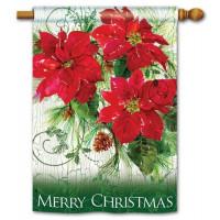 Christmas Poinsettias Standard Flag