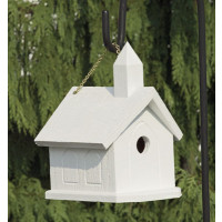 Church Birdhouse - White