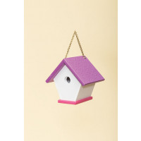 Polywood Wren House shown in White/Purple & Pink