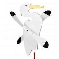 Egret Whirlybird Garden Stake