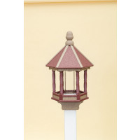 Small Polywood Bird Feeder - Cherry/WR (Weatherwood)