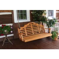 4' Marlboro Cedar Porch Swing - Cedar Stain