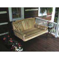 5' Cedar Fanback Swingbed