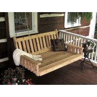 6' Cedar Traditional English Swingbed