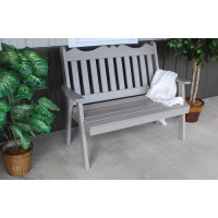 5' Royal English Yellow Pine Garden Bench - Olive Gray
