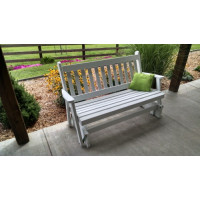 4' Traditional English Yellow Pine Glider - White