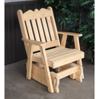 Royal English Yellow Pine Glider Chair - Unfinished
